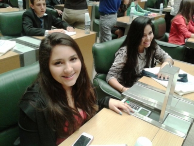 Aluna toma posse no Parlamento Jovem Paulista